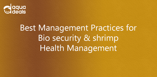 Best Management Practices for Bio security & shrimp Health Management