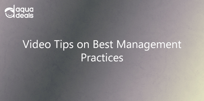 Video Tips on Best Management Practices